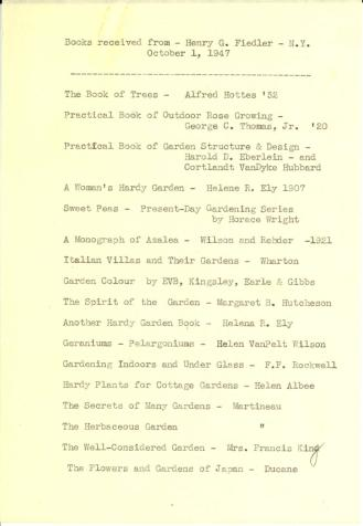 Books received 1947-1948