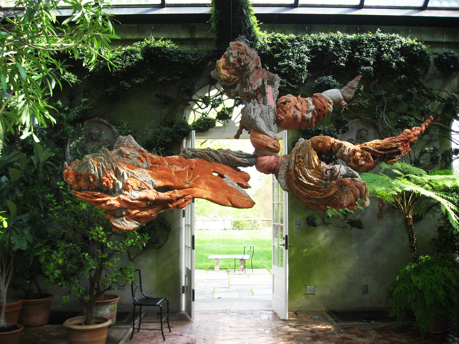 ''Mental Earth'' (2003) in the Orangerie. Image courtesy C. Simonds