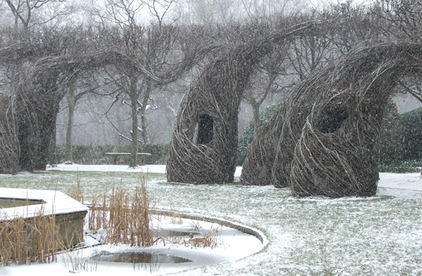 Patrick Dougherty's ''Easy Rider'' in winter 2011. Photo courtesy A. Tchikine.