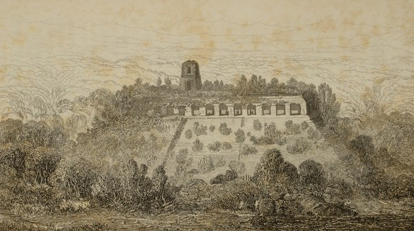 Engraving of Palenque